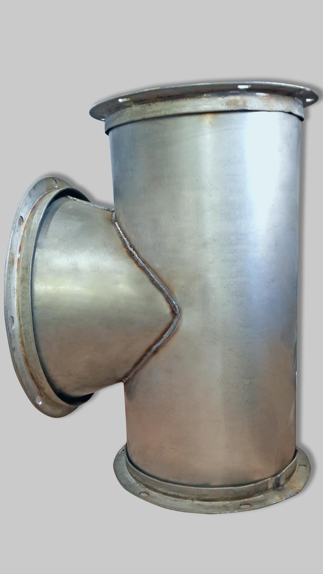 Нестандартный тройник для вентиляции