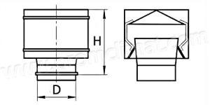 Дефлектор вентиляционный чертёж