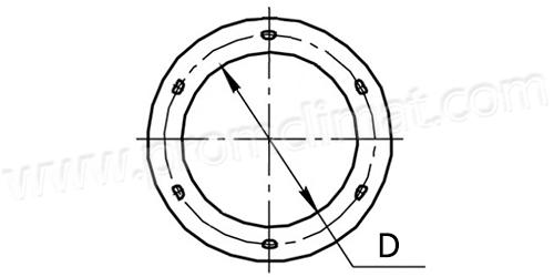Фланцы круглые чертёж