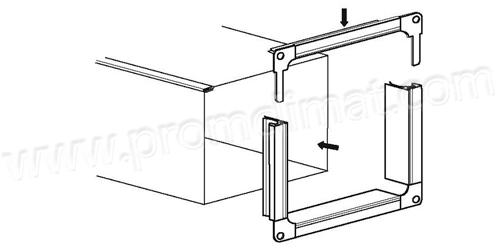 Фланец прямоугольный схема сборки и монтажа