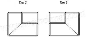 Переход прямоугольный центральный тип 2-3