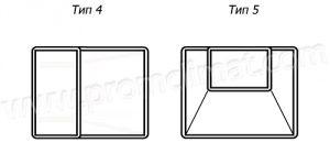 Переход прямоугольный центральный тип 4-5