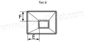 Переход прямоугольный центральный тип 6