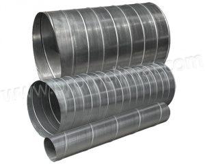 Воздуховоды спирально-навивные разных диаметров
