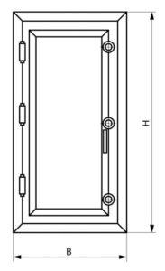 Дверь герметичная чертёж