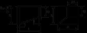 Переход прямоугольного сечения