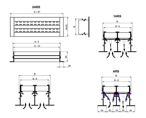 Декоративные решетки ARS устройство